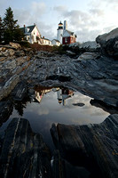 Pemaquid Point LIghthouse - Dawn Reflection