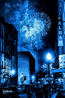 Fireworks in Blue - New Orleans