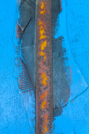 Rusty blue detail