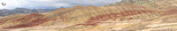 7 image panorama of the Painted Hills from the Overlook Trail