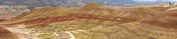 Multi image panorama of the Oregon's Painted Hills from the Overlook Trail.